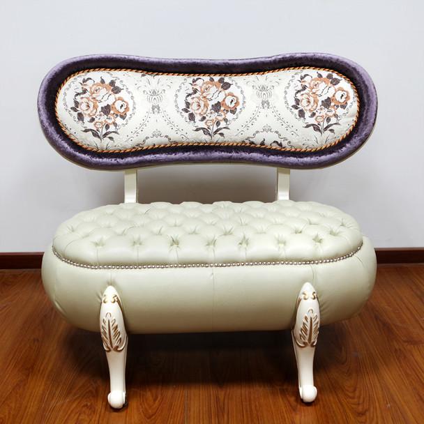 European Style cute double sofa pumpkin sofa chair single double and sofa stool set
