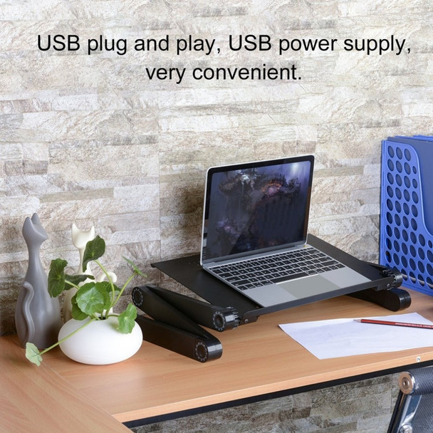 Aluminum Alloy Laptop Desks Adjustable Foldable Computer Notebook Lap PC Folding Desk Table Vented Stand Bed Tray For Sofa Bed