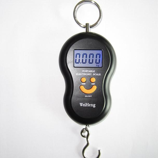 Portable Digital Pocket bag Hanging Smiley Scale 50KG