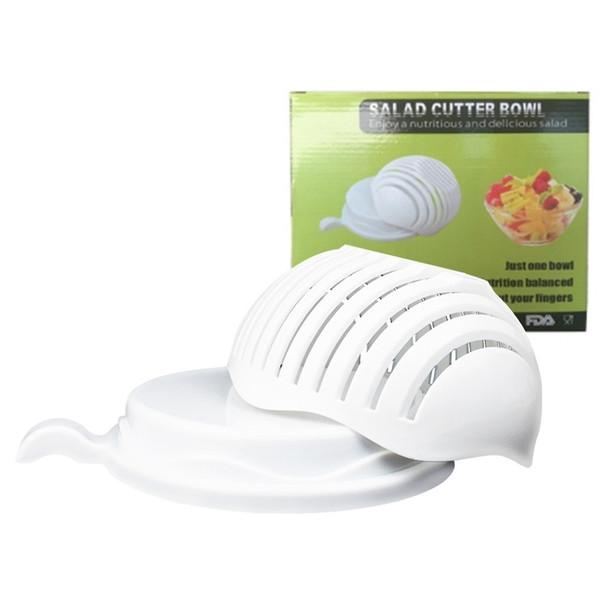 60 Second Salad Cutter Bowl Kitchen Gadget Vegetable Fruits Slicer Chopper Washer And Cutter Quick Salad Maker Kitchen tool