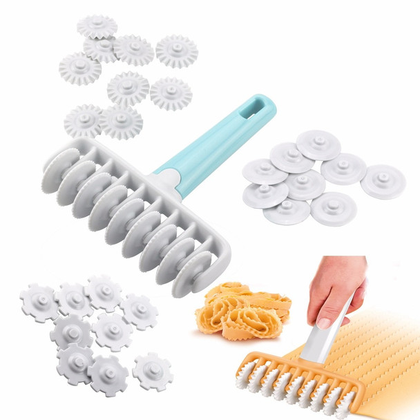 37pcs/set Kitchen Baking Tool Fondant Ribbon Cutter, 4 Different Gears Embosser Set Noodle Dough Cutter Pastry Tools for cake