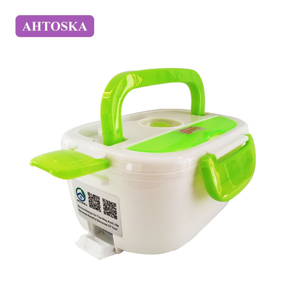 AHTOSKA 220V Portable Electric Heating Lunch Box  Food-Grade Food Container Food Warmer For Kids  4 Buckles  Dinnerware Sets
