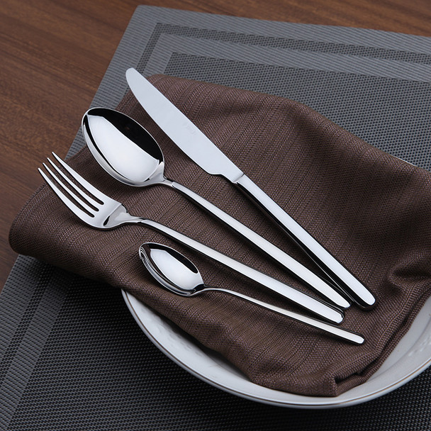 Cozy Zone Dinnerware Set 24 Pieces Cutlery Set Stainless Steel Western Tableware Classic Dinner Set Knife Fork Restaurant Dining