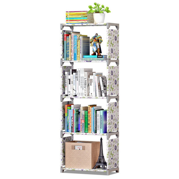 COSTWAY Fashion Simple Non-woven Bookshelves Four-layer Dormitory Bedroom Storage Shelves Bookcase Boekenkast Librero W0111