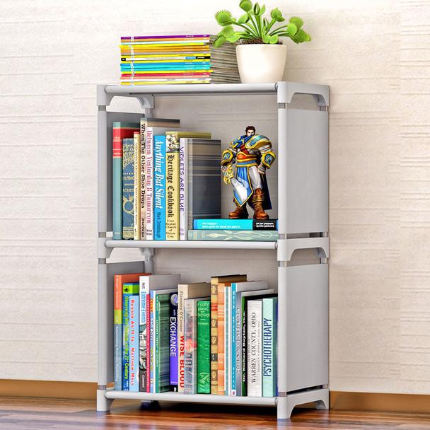 COSTWAY Fashion Simple Non-woven Bookshelves Two-layer Dormitory Bedroom Storage Shelves Bookcase Boekenkast Librero W0184