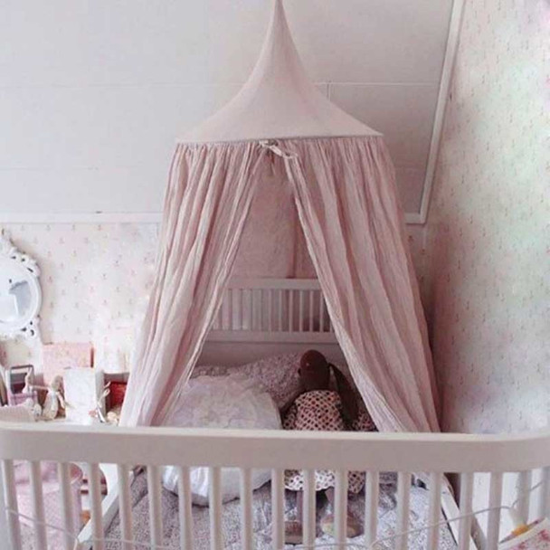 8 Colors Kids Boys Girls Princess Canopy Bed Valance Kids Room Decoration Baby Bed Round Mosquito Net Tent Curtains Bed Canopy