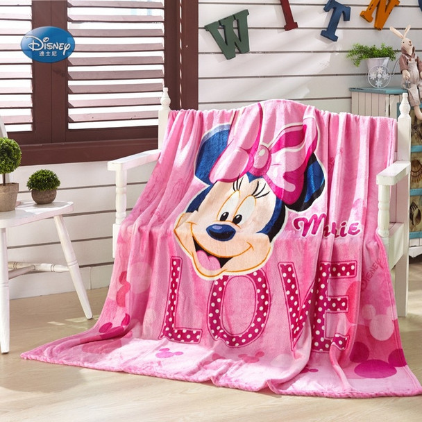Disney Cartoon Pink Minnie Mickey Mouse Soft Flannel Blanket Throw for Girls Children on Bed Sofa Couch 150X200CM Kids Gift