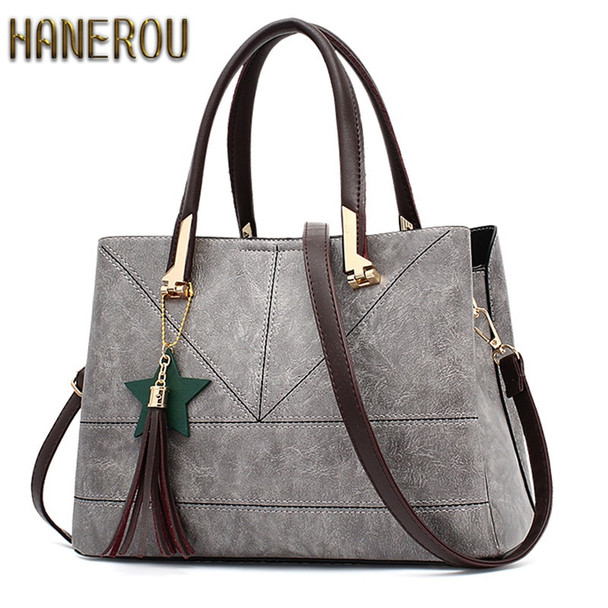Fashion 2018 PU Leather Shoulder Bag Ladies Autumn Handbags Famous Brands Women Black Saffiano Tote Bag New Casual Women Bag