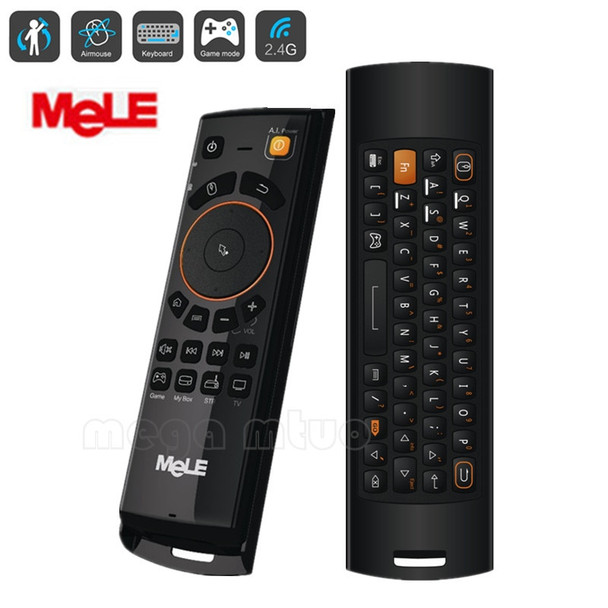 2.4GHz Fly Air Mouse Mele F10 Deluxe Wireless Keyboard Remote Control with IR Learning Function for Android TV Box