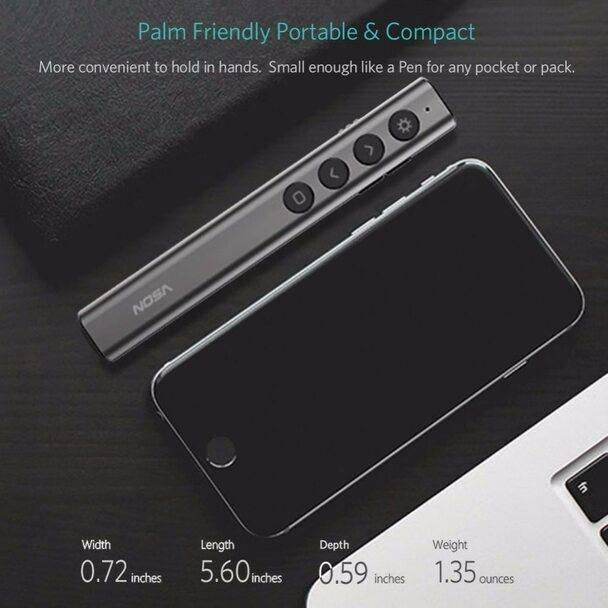 Longet N35 Wireless Presenter Pointer RF 2.4GHz PPT Slide Advancer USB Remote Control Flip Pen Powerpoint Presentation Clicker