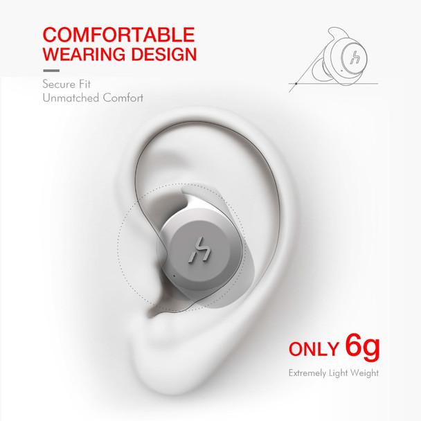 HAVIT TWS Bluetooth Earphone True Wireless Sport Earphone Waterproof Stereo Earbuds With Microphone for Handsfree Calls G1