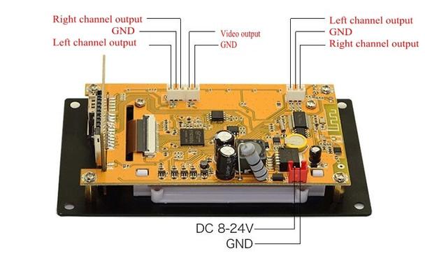 3 Inch LCD MP3 Decoder Board Bluetooth 4.2 Audio Receiver HD Video Player DTS FLAC WAV APE Decoding FM Radio For Car