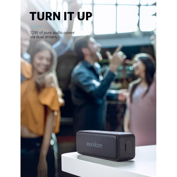 Anker Soundcore Motion B Portable Bluetooth Speaker with 12W Louder Stereo Sound IPX7 Waterproof 12+ Hr Longer-Lasting Playtime