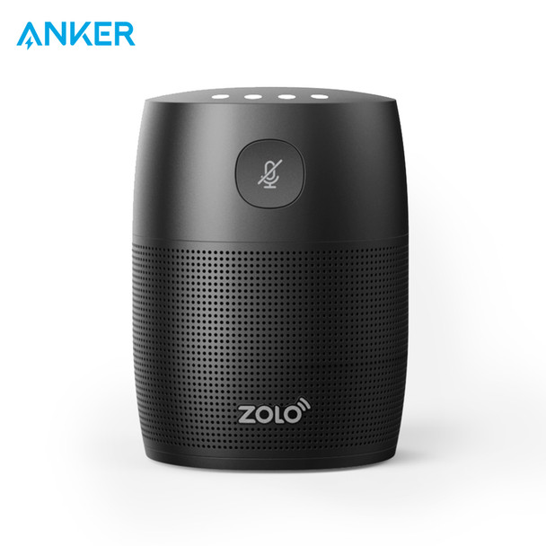 Anker Mojo voice activated speaker with powerful sound Google Assistant Play music personalized help control smart home devices
