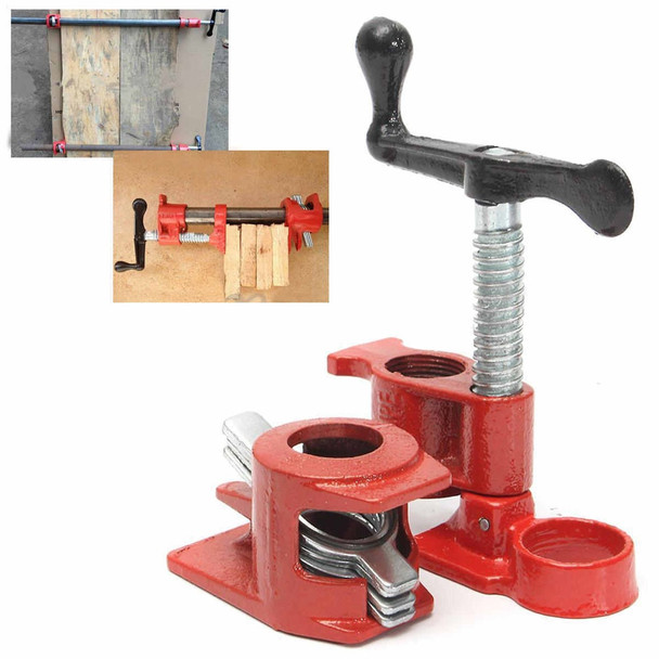 1/2 Inch Cast Iron Heavy Wood Gluing Pipe Clamp Clip Set Woodworking Carpenter Tool