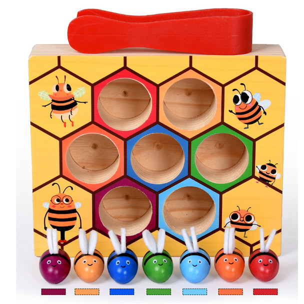 Kids Baby Toy Montessori Educational Toy Wooden Matching Pairs Game Card