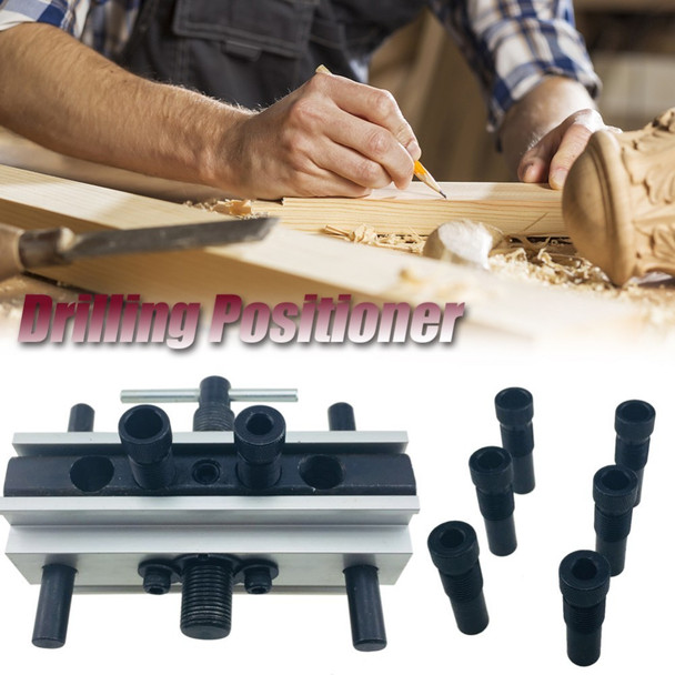 50mm Round Wood Dowel Drilling Positioner Woodworking Tool Doweling Holes Vertical Clamping Tool Drill Sleeve