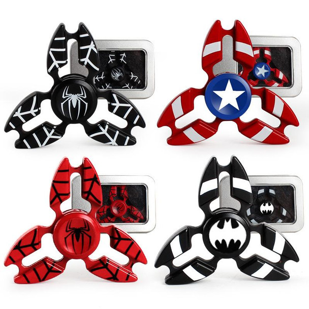 Captain America Metal Fidget Hand Spinner with 5 to 6 Minutes Spin Time
