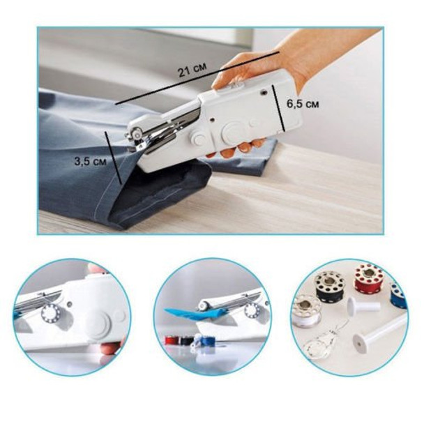 Handy Stitch Portable Cordless Handheld Automatic Sewing Machine - how to stitch