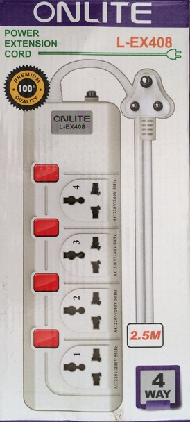 Onlite Power Extension Cord L-EX408