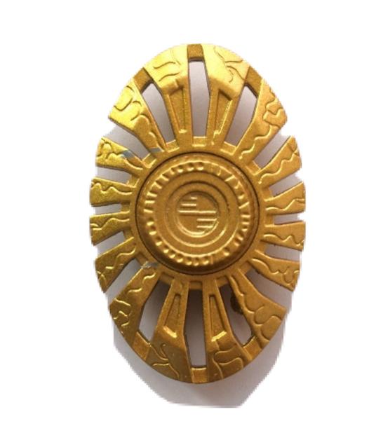 Oval Golden Metal Fidget Hand Spinner