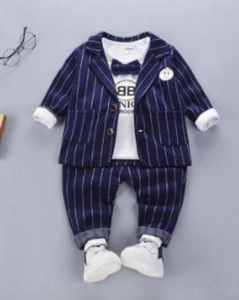 2018 New Children Suit set Baby Boys Suits Kids Blazer Boys Formal Suit For Wedding Boys Set Newborn 3pcs Blazer Pants T-shirt