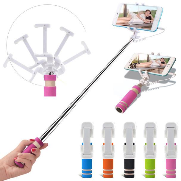 Monopod Mini Selfie Stick with Aux Cable - 3