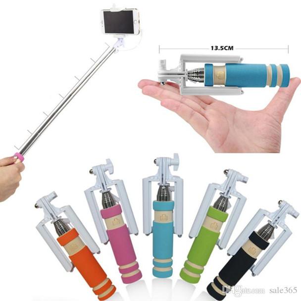 Monopod Mini Selfie Stick with Aux Cable - 4