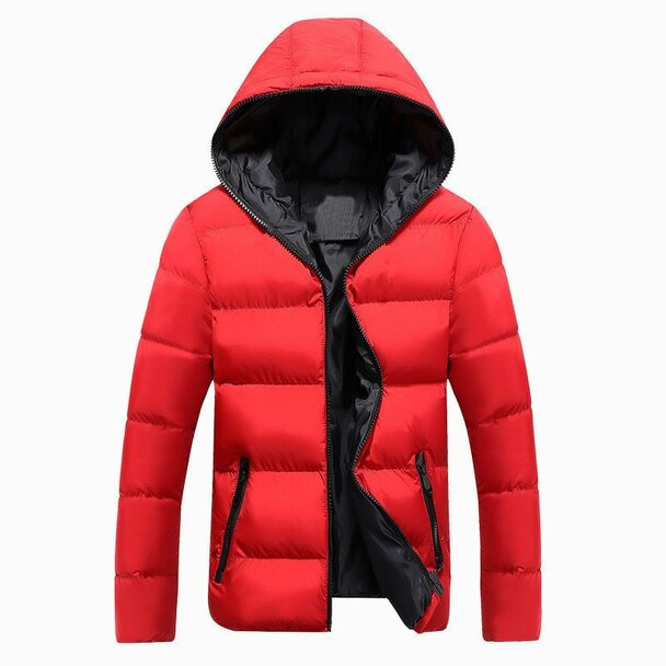 2018 New Jackets Men Winter Casual Outwear Windbreaker Jaqueta Masculino Solid Slim Fit Hooded Fashion Overcoats Homme Plus Size