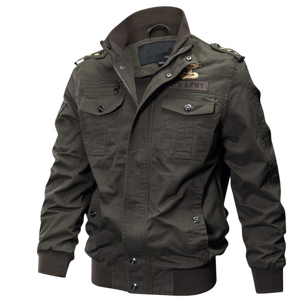 Military Pilot Jacket Men Winter Autumn Bomber Cotton Coat Tactical Army Jacket Male Casual Air Force Flight Jacket Size 5XL 6XL