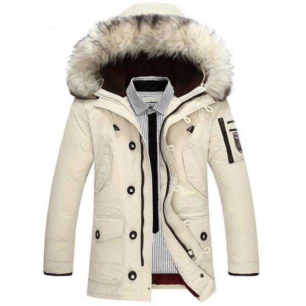 ed274e3b5 Down Jacket Men 90%Duck Down Warm Winter Jackets Men Fashion Casual Hooded  Thick Warm Windproof Outerwear Down Coats