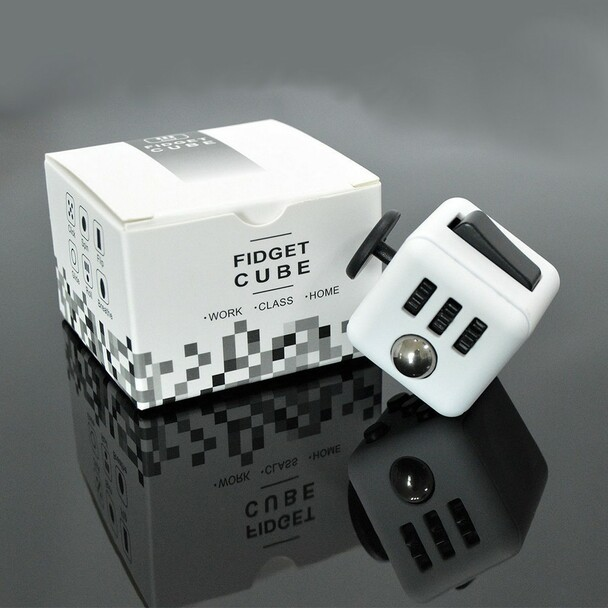 Fidget Cube (WHITE & BLACK)