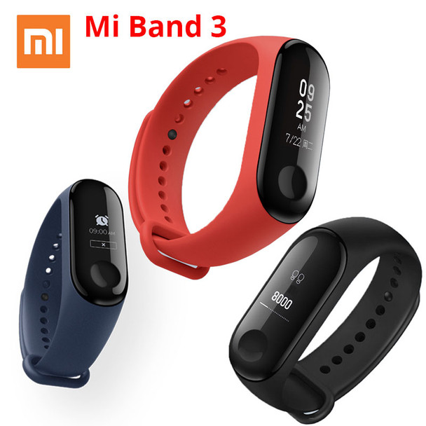 """Xiaomi Mi Band 3 Miband 3 Smart Wristband With 0.78"""" OLED Touch Screen Waterproof Heart Rate Fitness Tracker Smart Bracelet"""