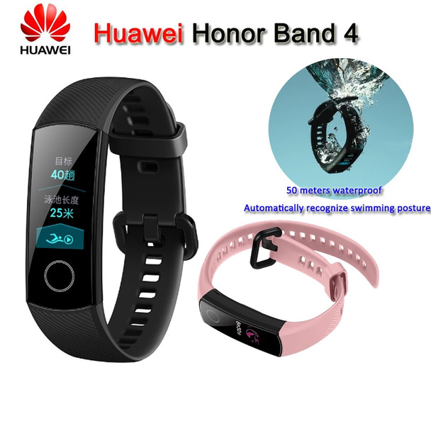 100% Original Huawei Honor Band 4 Smart Bracelet 50m Waterproof Color ouch screen Heart Rate Sleep Snap Smart Wristband