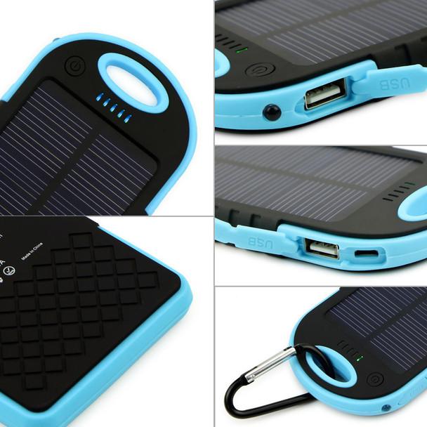 50pcs a Lots Free Shipping 5000MAH USB External Backup Solar Power Bank Charger Battery Waterproof