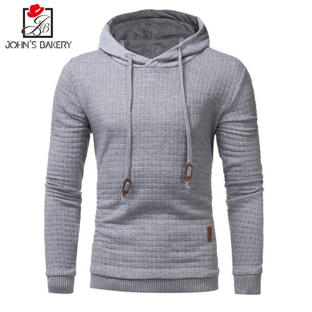 2017 New High-End Casual Hoodie Men'S Hot Sale Plaid Jacquard Hoodies Fashion Military Hoody Style Long-Sleeved Men Sweatshirt