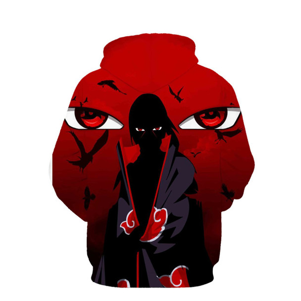 2017 new large size 3D Hoodie Naruto anime Uchiha Itach men women Hoodies Sweatshirts 3d hoodie Sweatshirt for men