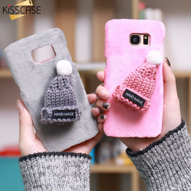 KISSCASE Case For Samsung Galaxy S7 S7 Edge S6 S6 Edge Phone Case 3D Cute Lovely Christmas Cap Cartoon Back Cover for S8 S8 Plus