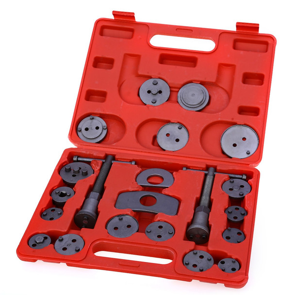 21pcs/Set Universal Car Disc Brake Caliper Rewind Back Brake Piston Compressor Tool Kit Set For Automobiles Garage Repair Tools
