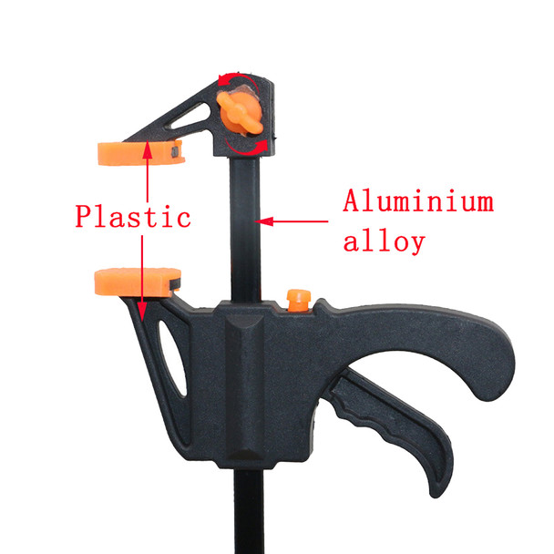 1pcs 4 Inch Wood-Working Bar Clamp Quick Ratchet Release Speed Squeeze DIY Hand Tools Color Random