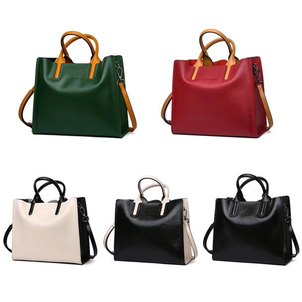 051e3cd7b30 LY.SHARK Big Messenger Bag Women Shoulder Bag Female Bag Ladies Genuine  Leather Bags For Women 2018 Women Handbags Green Black