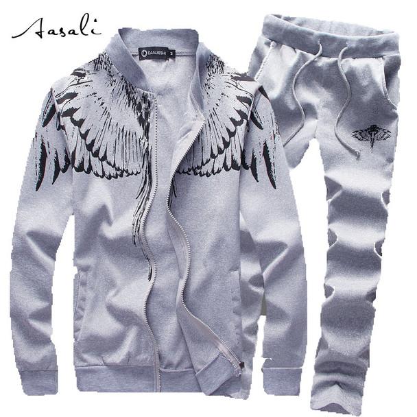 Mens Tracksuit Set SportSuit Men 2PCS Casual Sportswear Luxury Brand Sweatshirt Survetement Jogger Homme Marque Hoodies 4XL 5XL
