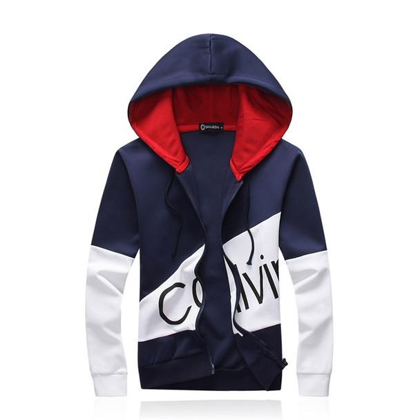 Casual sporting suit men warm hooded tracksuit track polo men's sweat suits set zipper patchwork letter print large size 5XL big
