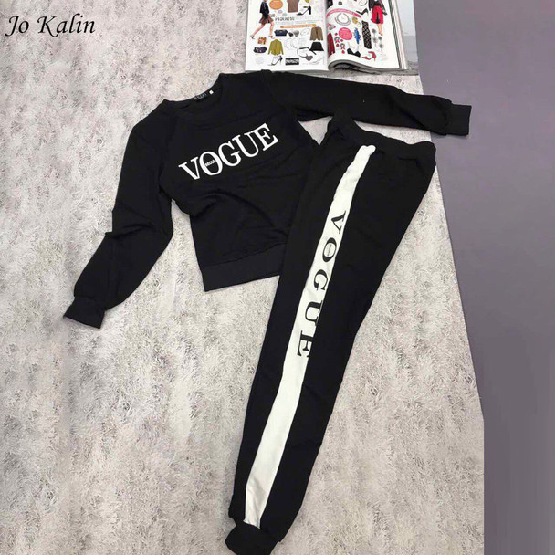 New Autumn Winter 2017 Women 2 piece clothing set casual fashion Vogue sweatshirt+ long pants tracksuit for women hoodie suit