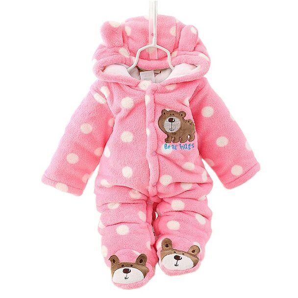 Cotton Baby Rompers Winter Baby Boy Clothes 2017 Baby Girl Clothing Sets Cute Newborn Baby Clothes Roupas Bebe Infant Jumpsuits