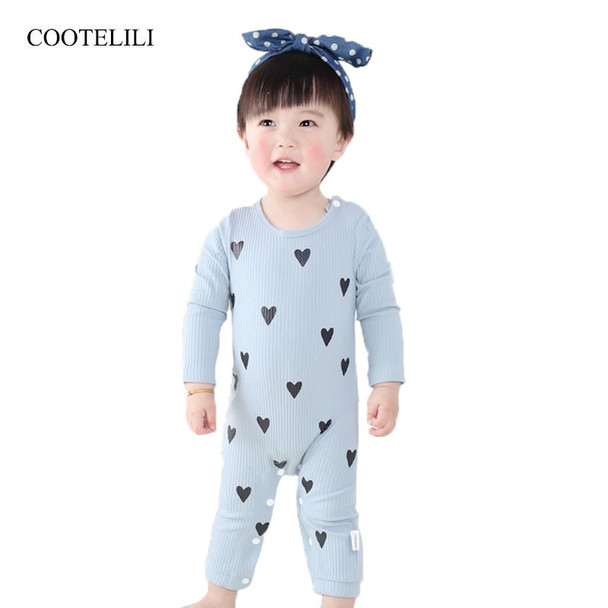 7aa6b39fc102 COOTELILI Cute Heart New Born Baby Clothes Spring Autumn Long Sleeve ...