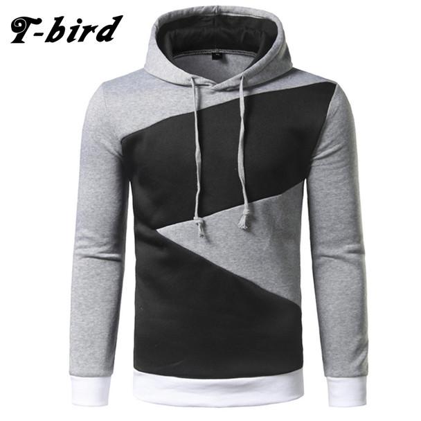 T-Bird Brand Hoodies Men 2017 Male Long Sleeve Hoodie Hip Hop Pullover Sweatshirt Mens Moletom Masculino Hoodies Slim Tracksuit