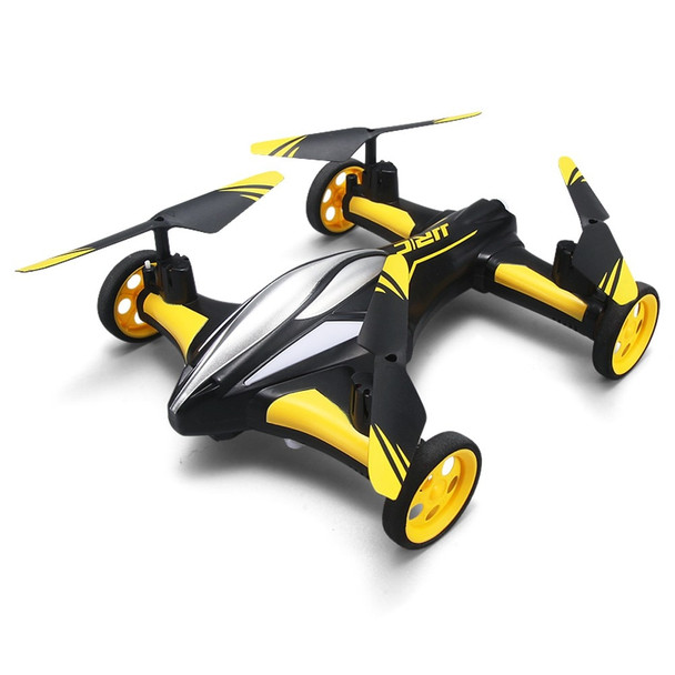 Mini RC Air-ground Amphibious Quadcopter With Wheels LED light  Headless Mode A key Return Helicopter VS SYMA X9