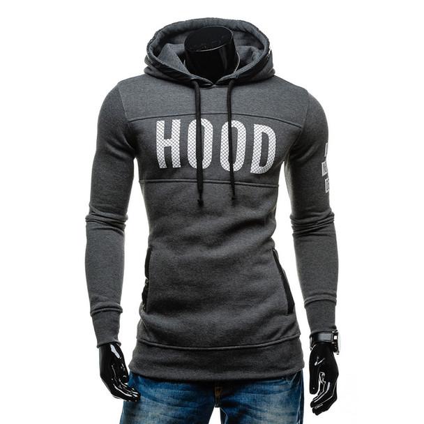 2017 New Brand Sweatshirt Men Hoodies letter print Fashion Solid Fleece Hoodie Mens Pullover Men's Tracksuits Moleton Masculino