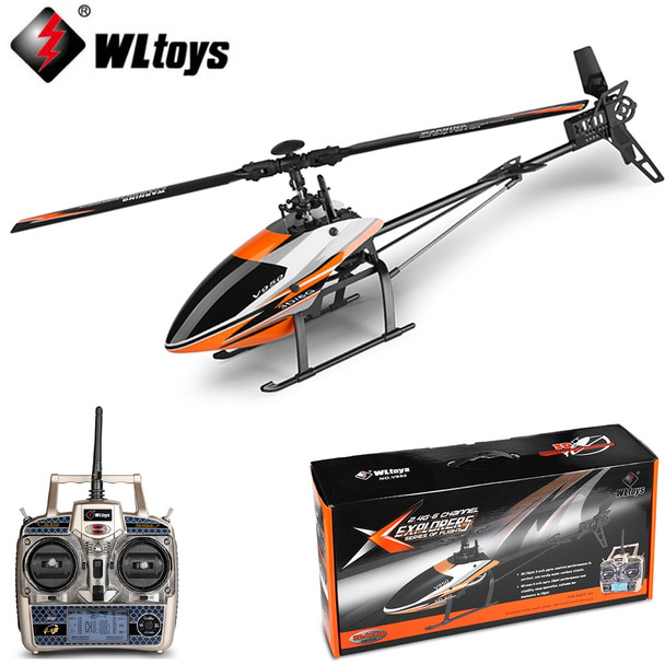 WLtoys V950 Big Helicopter 2.4G 6CH 3D6G System Brushless Flybarless RC Helicopter RTF Remote Control Toys